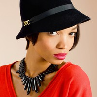 Trina Turk | Black Cloche Hat