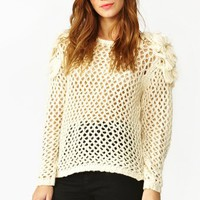 Shaggy Mesh Knit