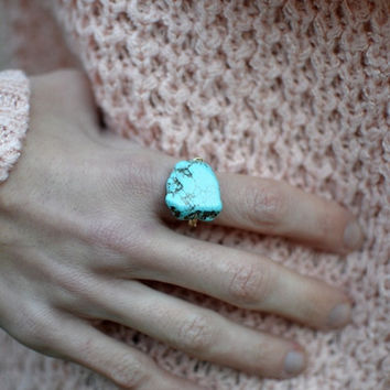 Rock N' Stone Ring In Turquoise