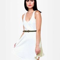 Sweet Cutout Dress - Ivory Dress - White Dress