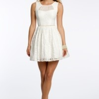 Lace Party Dress with Open Back
