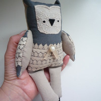 Stefano  - Little  owl, soft art  toy  by Wassupbrothers