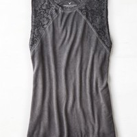 AEO Women's Soft & Sexy Lace Muscle Tee