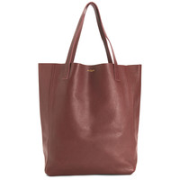 THE PERFECT LEATHER TOTE 'ALPHA' BURGUNDY