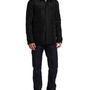 Kenneth Cole Reaction Men`s Coated Ottoman CPO Jacket, Black, Large $89.99