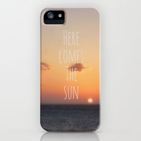 Here Comes The Sun iPhone Case by Ally Coxon | Society6