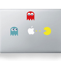 Pacman-Macbook decals Mac decal Macbook pro decal Macbook air decal Mac stickers Apple decal for Macbook Pro / Macbook Air