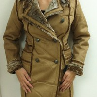 Steve Madden Women`s Coat, Camel, Large $129.00