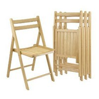 Winsome Wood Folding Chairs, Natural Finish, Set of 4 $135.13