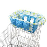 Bright Starts Comfory & Harmony Cozy Cart Cover, Blue/Green $29.99