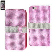 iphone 6 plus - luxurious diamond flip case