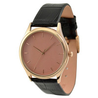 Rose Gold Watch with rose gold indexes in rose gold face