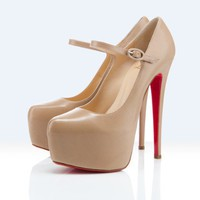 Christian Louboutin platforms lady daf 160mm beige - &amp;#36;196.00