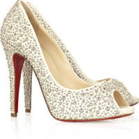 Christian Louboutin Studio 120 peep-toe pumps - &amp;#36;236.00