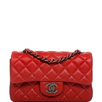 Madison Avenue Couture Chanel Red Quilted Lambskin Small Classic 2.55