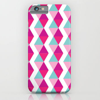 Chevron Stripes Pink iPhone & iPod Case by Whitney Werner