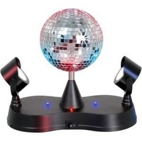 Lumisource Disco Ball with 2 Mirrors Table Lamps