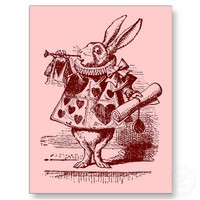 Vintage Alice in Wonderland White Rabbit Postcards from Zazzle.com