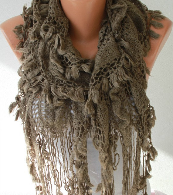 fabric knitted lace scarf shawl scarf from fatwoman on etsy