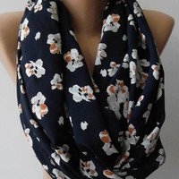 Super Loop,Tube Scarf,  Infinity Scarf Loop Scarf Circle Scarf - Elegant - It made with good quality cotton  fabric jasmine flowers