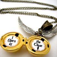 Golden Snitch Locket  I Open at the Close by WolfbirdStudios