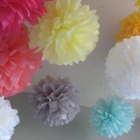 100 Tissue Poms  Pick Your Colors  Wedding DIY by prosttothehost