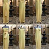 DIY. / Sharon Sews: Golden goddess gown - a side tie infinity dress that is smokin&#x27; ho