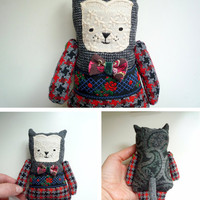 Gregory - Little  cat , soft art  toy  by Wassupbrothers