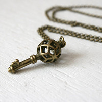 3D Hollow Key Necklace