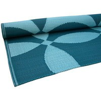 Koko Company Teal/Turquoise Optic Floormat