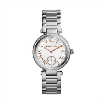 Michael Kors Skylar Silvertone Stainless Steel Bracelet Watch at Von Maur