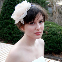 Victorian Rose in Bloom Bridal headband by papersilkmade on Etsy