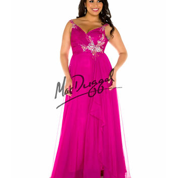 Ruched Sweetheart Bodice Magenta Dress