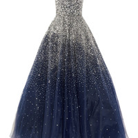 Marchesa|Sequined strapless silk tulle gown|NET-A-PORTER.COM