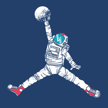 Space dunk Art Print by Steven Toang