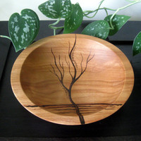 Rising Tree Wooden Bowl by KalinaG on Etsy