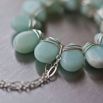 Aqua blue Amazonite Necklace | daimblond
