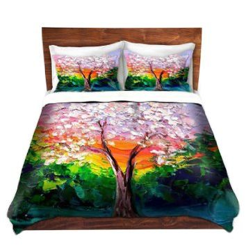 Duvet Cover Premium Woven Twin, Queen, King from DiaNoche Designs by Aja-Ann Home Decor and Bedding Ideas - Story of the Tree L