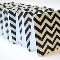 Black And White Chevron Mini Cards .. on Luulla
