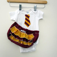 Hogwarts Gryffindor Student Costume ruffle or plain by RaeGun