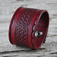 Celtic Braid Leather Cuff