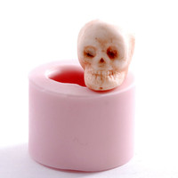 Skull mold - silicone skull mold - gothic mold - fondant skull mold - chocolate skull mold - food safe skull mold