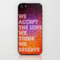 The Love We Deserve Revisited iPhone &amp; iPod Skin by Caleb Troy | Society6