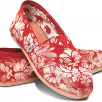 Gabriel Lacktman Hand-Bleached Damask Red Women's Classics
