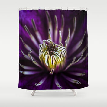 Flower universe Shower Curtain by HappyMelvin