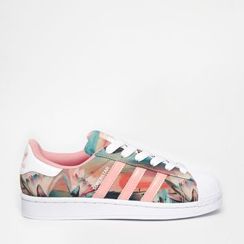Adidas Original Superstar Junior Floral 3 4 5 6 CG3596 SportsLocker
