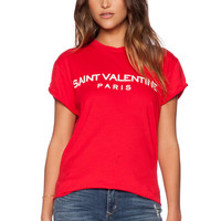 The Laundry Room Saint Valentine Rolling Tee in Red Hot