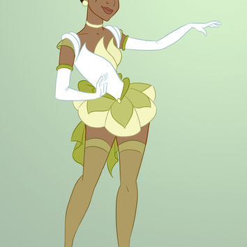 Sailor Disney Princess Tiana Art Print by Nautilus Gifticus