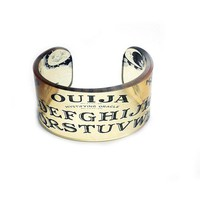 Ouija Resin Graphic Cuff by BuyMyCrap on Etsy