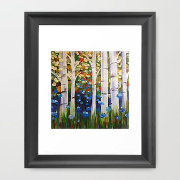 Hannah's Heaven Framed Art Print by Laura Santeler